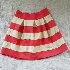 Coral and ivory striped skirt s/m from A'Gaci